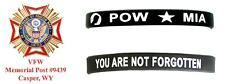 POW/MIA silicone bracelet/wristband -  VFW sale