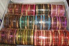 12 Sets of 24 ~Genuine Indian Bollywood Glitter Bangles (288)! ~NB67~uk seller~