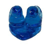 Blue Bird of Happiness 2 Birds On Heart Figurine by Leo Ward 1991 Signed