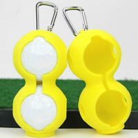 2Pc Golf Ball Silicone Ball Sleeve Protective Cover Bag Keyring Golf Accessories