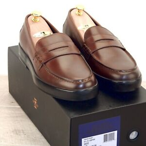 * NIB * $275 Allen Edmonds DRIGGS Loafer 9.5 D Coffee * 1stQ new Shoe Trees Bags