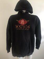 USA 90's Vtg tampa bay buccaneers hoodie logo athletic Black