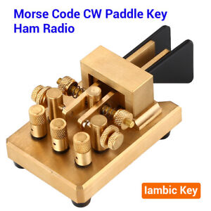 Auto Iambic Paddles Keyer DX-KV CW Key Morse Code For Ham Radio Telegraph Tool