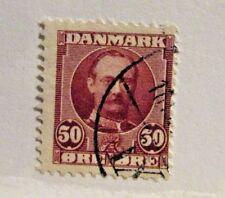 DENMARK Scott #29c Θ  used, inverted frameline stamp, fine + 102 card