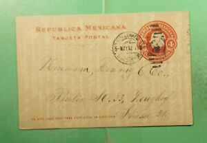 DR WHO 1912 MEXICO POSTAL CARD TO GERMANY  g11997