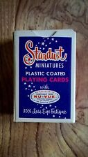 Vintage Stardust Miniature Playing Cards - Full Deck In Box