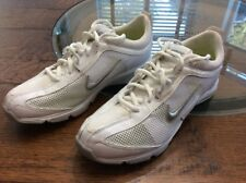 Womens Nike White And Silver Size 8.5 Running Shoe New