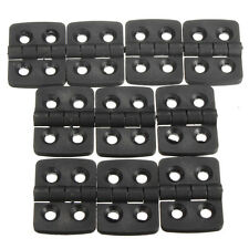 10Pcs 40mmx30mm Reinforced Plastic Hole Door Cabinet Butt Bearing Hinge 2 Leaves