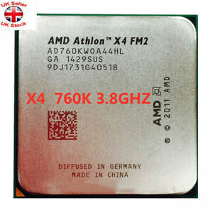 AMD Athlon X4 760K 3.8GHz Quad Core Socket FM2 100W AD760KWOA44HL Processor UK