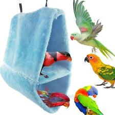 Bird Parrot Plush Hammock Cage Snuggle Happy Hut Tent Bed Bunk Toy Hanging Cave