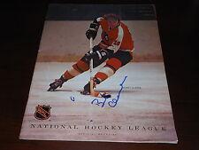 Bobby Clarke Autograph Original 1971/72 Philadelphia Flyers Signed Program