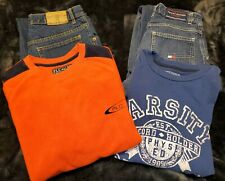 Lot of Boy's Clothes - Size 14 - Blue Jeans & Long Sleeve Tops - 2 Outfits GUC