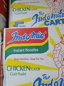 Noodles Instant chicken  Indomie full white box case of 40  packs