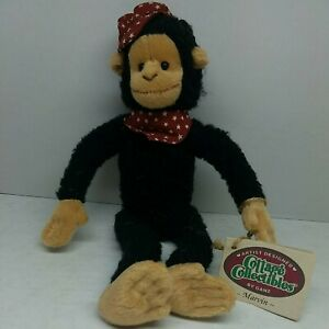 """The Cottage Collectibles By Ganz """"Marvin"""" Monkey 1995 Vintage New With Tags"""