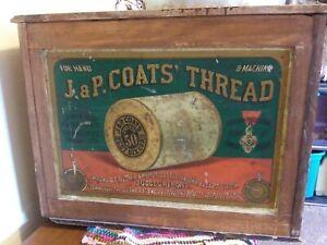 J.&P. Coats Walnut 6-Drawer Spool Cabinet - Centennial Exposition