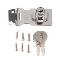 Zinc Alloy Chrome Plated Hasp Door Buckle Latch Cabinet Drawer Lock with Key