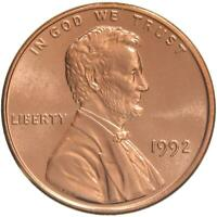 1992 Lincoln Memorial Cent Gem BU Penny US Coin
