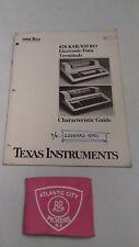 Texas Instruments 820Ksr/820 Ro Electronoc Data Terminals Characteristics Guide