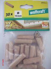 Holzdübel Buche Ø10 x 40mm wolfcraft Langholzdübel 150 Stück