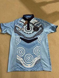 NSW STATE OF ORIGIN INDIGENOUS ABORIGINAL TRIBUTE POLO - BUNDARRA CLOTHING M