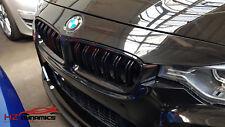 GLOSS BLACK DOUBLE SLAT KIDNEY GRILLS GRILLE 2012 2015 BMW F30 3 SERIES F31 F35