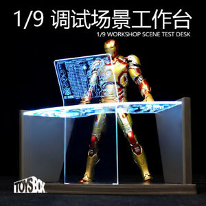 Toys-box 1/9 ka Iron Man Tony  Workshop Scene Test Desk Display  For Iron Man