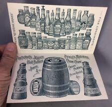 1880s F & J HEINZ PICKLES Vinegar Victorian Advertising ANTIQUE TRADE CARD