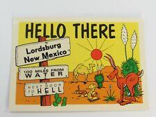 Vintage Postcard Lordsburg New Mexico NM Desert 30821