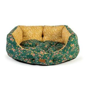 FatFace Meadow Deulxe Floral Slumber Bed, Floral Dog Bed, Luxury Bolster Dog Bed
