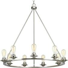 Debut Collection 9-light Brushed Nickel Chandelier by  Progress Lighting