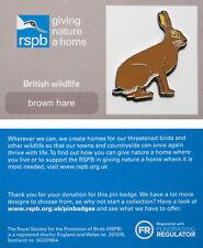 RSPB Pin Badge | Brown Hare | GNaH backing card [00861]
