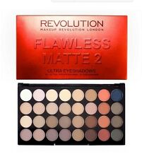 NEW Makeup Revolution FLAWLESS MATTE 2 Eyeshadow Palette 32 Shades Nudes Browns