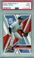 """2008 Upper Deck X #70 """" Derek Jeter """" SSP PSA 9 {HOF 2020 99.7%} POP 14  Yankees"""