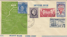 Stamps Ross Dependency set 4 Scott Base commemorative postmark on souvenir cover