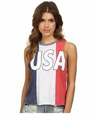 CHASER USA TANK TOP RED, WHITE AND BLUE T SHIRT JERSEY MUSCLE JULY 4th SZ XS NEW
