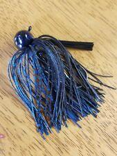 5 pack 1 oz Black/Blue Football Jig w/ 5/0 Eagle Claw Black Nickel hook