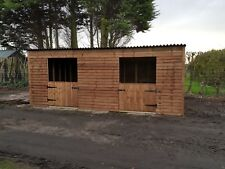 Twin block of 10ft x 10ft mobile pony/ field shelters, can deliver and fit