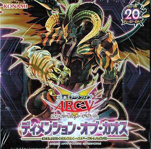 NEW YuGiOh! ARC-V OCG Dimension of Chaos Booster Box Japanese KONAMI JAPAN F/S