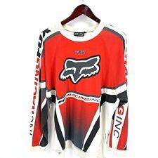 Vintage 90s Fox Racing Motocross Jersey T Shirt Mens XL Red