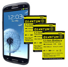 3X QUANTUM OEM Replacement Batteries for Samsung Galaxy S3 (12 Month Warranty)