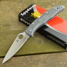 Couteau Spyderco Endura 4 Gray Acier VG-10 Manche FRN Made In Japan SC10FPGY
