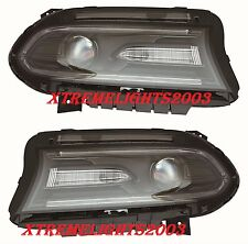 DODGE CHARGER 2015-2016 PROJECTOR HEADLIGHTS HEAD LIGHTS LAMPS LEFT RIGHT PAIR