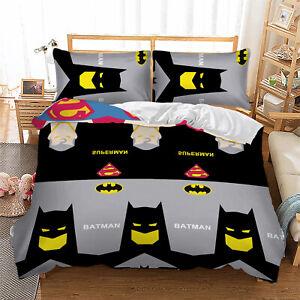 3D Batman Duvet Quilt Cover Set Bedding Set Pillowcases Single Double King Size