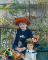 Auguste Renoir Two Sisters On the Terrace Giclee Paper Print Poster