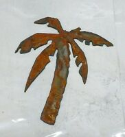 "6"" Palm Tree Shape Rusty Rustic Vintage Metal Wall Art Craft Beach Ocean Sign"