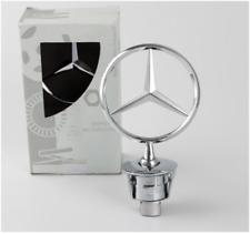 Mercedes-Benz Star Standing Hood Logo Emblem Badge 3D Fit E230 E240 E260 E280