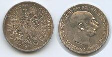 G4326 - Österreich 2 Kronen 1912 Wien KM#2821 Silber Franz Joseph I.1848-1916