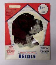 Vintage Nos German Shorthaired Pointer Sticker Decal Pet Dog Pet Supply Imports