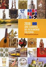 Portugal 2018 CTO European Yr Cultural Heritage 2v M/S 4v Set Spec Folder Stamps