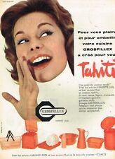 F- Publicité Advertising 1958 Plastiques Grosfillex tahiti